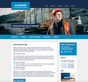 Voorbeeld website template 2