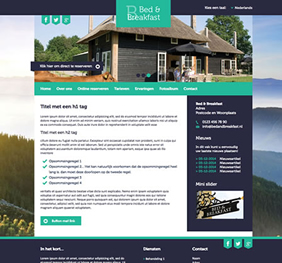 Voorbeeld website template 1