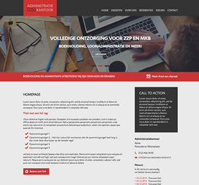 Voorbeeld website template 3