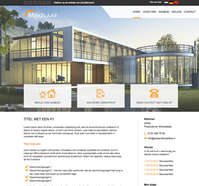 Voorbeeld website template 4