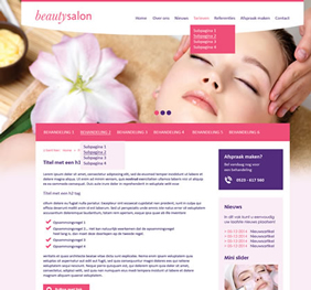 Voorbeeld website template 5