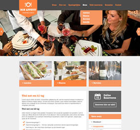 Voorbeeld website template 6